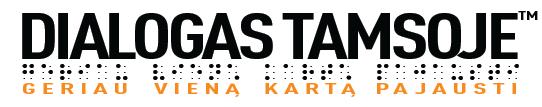 Dialogas tamsoje logo